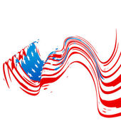 Wave style american flag design — Stock Vector
