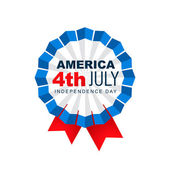 4th of july label — Stock Vector