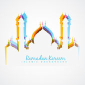Colorful mosque design — Stock Vector