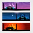 Stock Vector: Ramadand eid headers