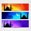 Colorful eid headers — Stock Vector