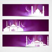 Eid headers — Stock Vector
