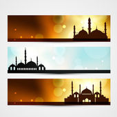 Ramadan and eid headers — Vecteur