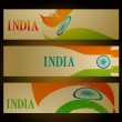 Set of indian flag headers — Stock Vector