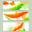 Stock Vector: Colorful indiflag headers