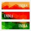 Abstract indian header set — Stock Vector