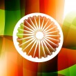 Indian flag wheel — Stock Vector
