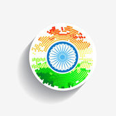 时尚创意印度国旗 — 图库矢量图片