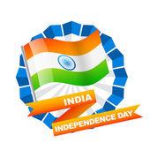 étiquette de drapeau indien — Vecteur