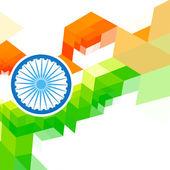 индийский флаг дизайн иллюстрации — Cтоковый вектор