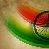 Grunge 风格印度国旗 — 图库矢量图片