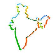 Mapa de india del vector — Vector de stock