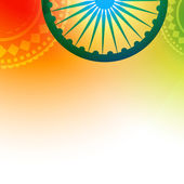 Stylish indian flag — Stock Vector