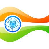 Vector indian flag design — Stock Vector