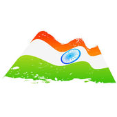 Vector flag of india — Stock Vector