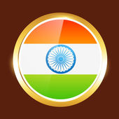 Indian flag label — Vettoriale Stock