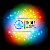 Diseño colorido bandera india — Vector de stock