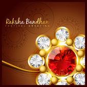 Raksha bandhan festival design — Stock Vector