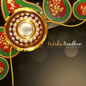 Golden rakhi for rakshabandhan — Stock Vector