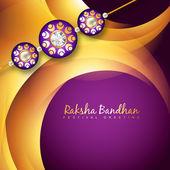 Beautiful rakhi background — Stock Vector
