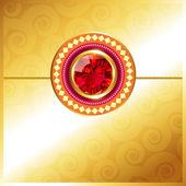 Golden rakhi design — Stock Vector