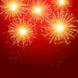 Vector de stock : Beautiful fireworks