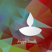 Vector abstract diwali design — Stock Vector