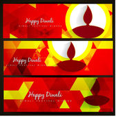 Diwali headers — Stock Vector