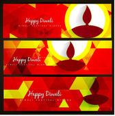Diwali headers — Stock Vector