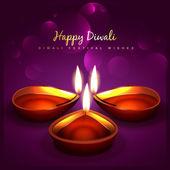 Stylish diwali background — Stock Vector