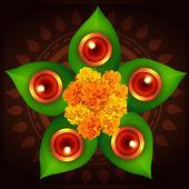 Diwali diya background — Stock Vector