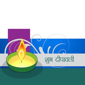 Coloful diwali design — Stockvector