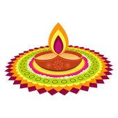 Festival diwali coloré — Vecteur