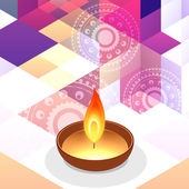 Diwali greeting background — Stock Vector