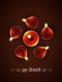 Stylish diwali festival — Stock Vector