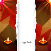 Shiny vector diwali design — Stock Vector