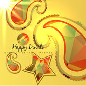 Creative diwali background — Stock Vector