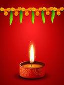 Diwali diya — Stock Vector
