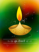 Diwali festival design — Stock Vector