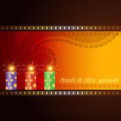 Diwali crackers design — Stock Vector