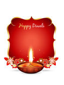 Vector diwali greeting — Stock Vector