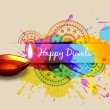 Colorful diwali background — Imagen vectorial