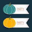 Halloween party label — Stock Vector