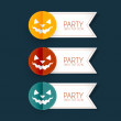 Halloween party stickers — Stock Vector