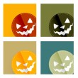 Stock Vector: Halloween card design