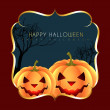 Halloween greeting design — Stock Vector