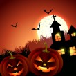 Creepy halloween vector — Vector de stock #33176479