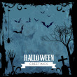 Creepy halloween design — Stock Vector