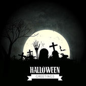 Dark halloween design — Stock Vector