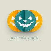 Tarjeta de halloween feliz — Vector de stock